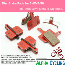 check price Bicycle Disc Brake pads for SHIMANO M375 M395 M486 M485 M475 M416 M446 M515 M445 M525 Disc Brake, 4 Pairs Black Resin Sale Best Quality