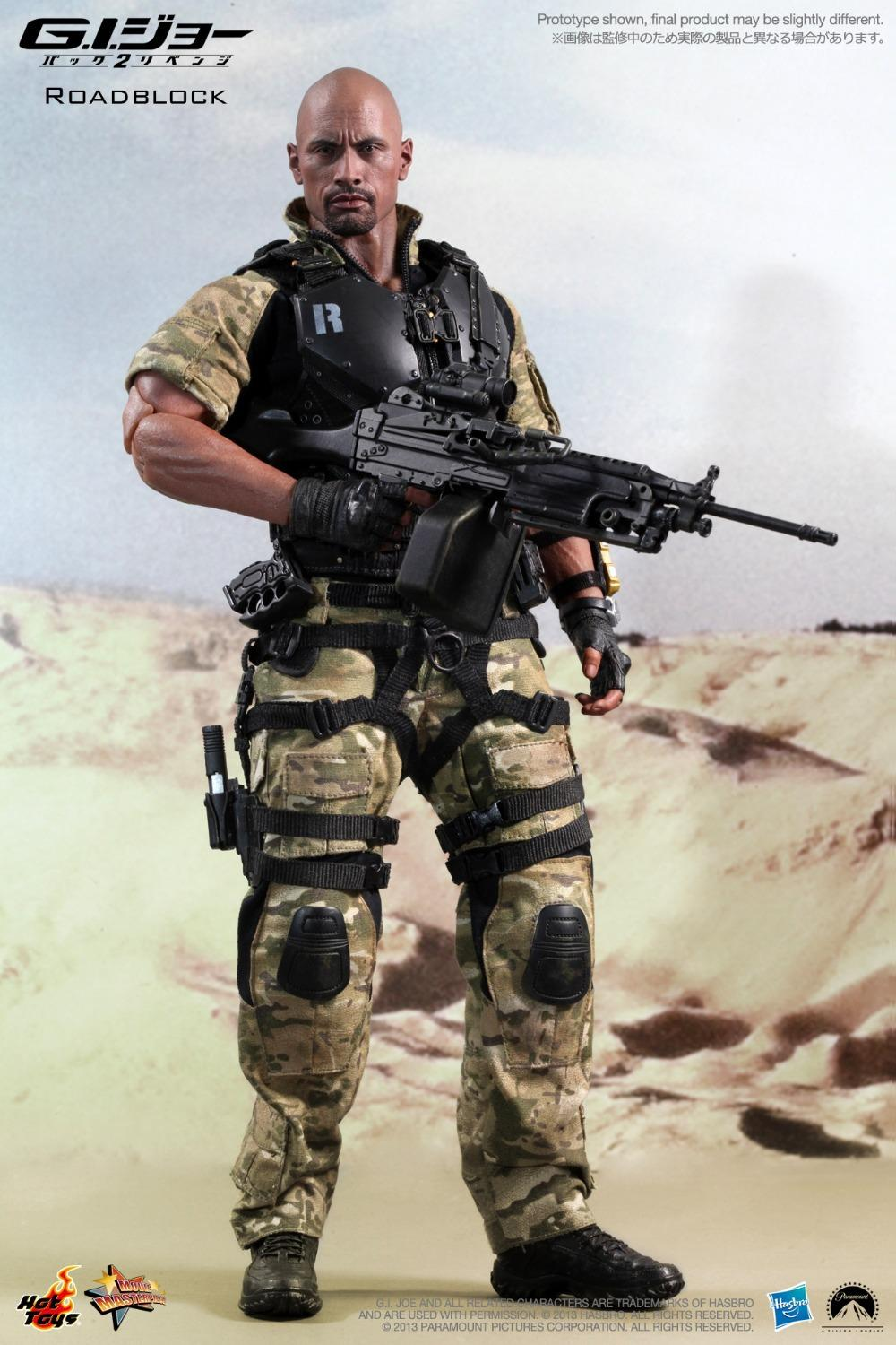1/6 scale doll model Roadblock Dwayne Johnson in G.I.Joe: Retaliation.12 action figure doll.Collectible Figure toy mick johnson motivation is at