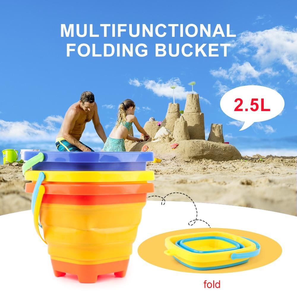 Sammeln & Seltenes Aufstrebend Multi-funktion Tragbare Falten Eimer Strand Outdoor Spielzeug Eimer Wasser Heben Und Sand Laden 2.5l Pools & Wasserspaß