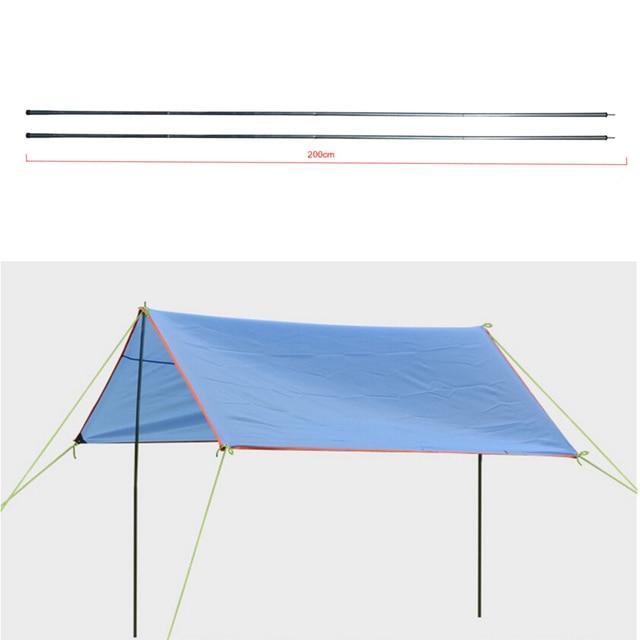 Alloy Outdoor Folding Ultralight Sun Shelter Support Rod tarp Beach Tent pole High Quality Pole Reinforced Aluminium 4 PCS