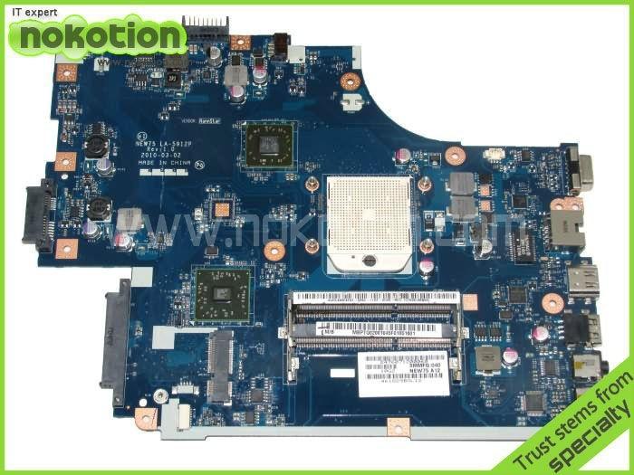 MB.PTQ02.001 Laptop Motherboard for Acer Aspire 5551 Series MBPTQ02001 LA-5912P & heatsink & cpu = La-5911p Mainboard M880G DDR3