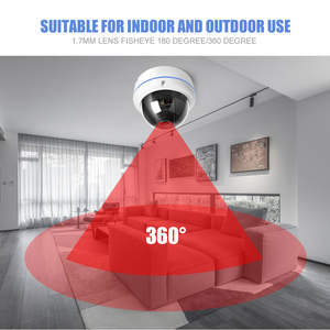 Image 5 - HD 1080P 3MP 4MP POE IP Camera Outdoor 1.7mm Fisheye Lens Panoramic Dome Camera P2P APP Onvif XMEye CCTV Surveillance Cameras