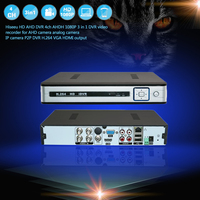 Hiseeu AHDH HD 4CH 1080P Nvr Poe DVR Video Recorder For Analog Camera AHD Camera P2P