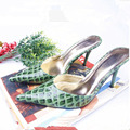 US SZ5-10 NEW Patent Leather Alligator Grain Heels Womens Pump Prom Dress Shoes Sexy Pointy Toe Sandal