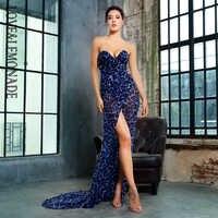 Love&Lemonade Deep V Neck Cross Leopard Chiffon Slim Long Dress LM81352