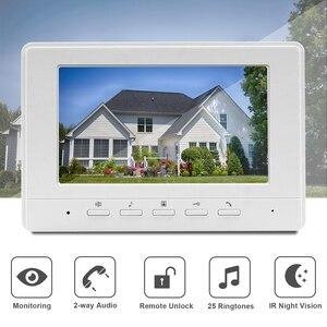Image 2 - Homefong Video Intercom 7inch Wired Video Door Phone 1000TVL IR Doorbell Camera With Electric Lock for Home Door Intercom System