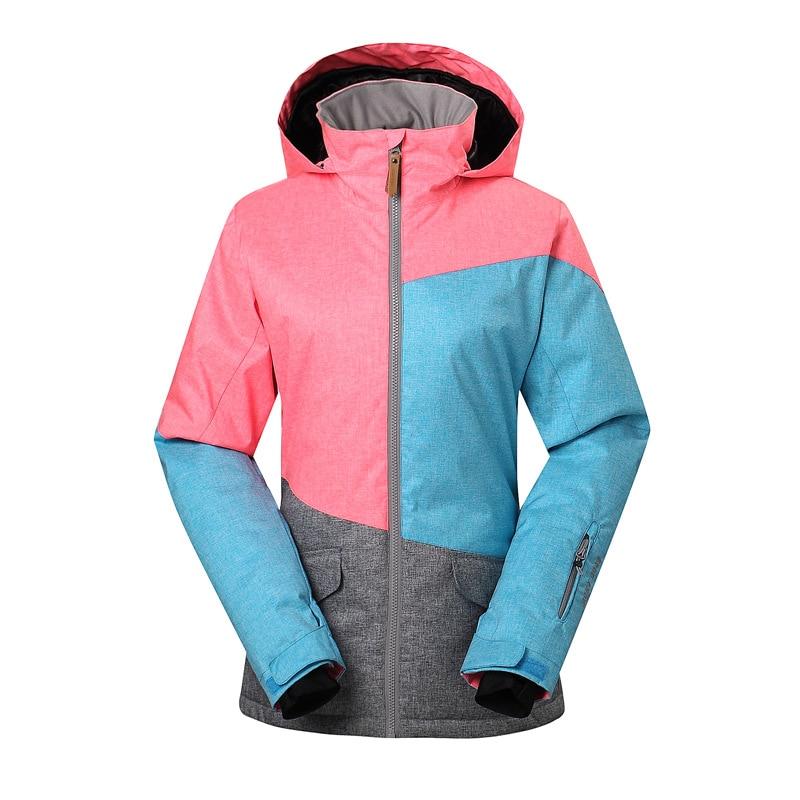 GSOU SNOW veste de Ski femme simple Double planche veste de Ski extérieur hiver coupe-vent chaud imperméable manteau de Ski pour les femmes