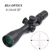 BSA оптика TMD 4 14X44 FFP охотничий оптический прицел оптика Сфера стекло Mil точка сетка охотничья область снайперская область Тактическая Винтов