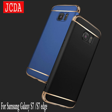 For Samsung Galaxy S7 edge phone case bag Shell 3in1 luxury plastic hard Top Hard PC Protective Shockproof cover for S7Edge JCDA