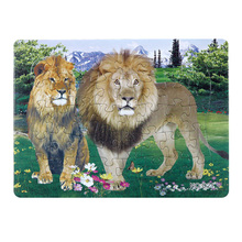 Купить с кэшбэком 3D Paper jigsaw puzzles toys for children kids toys brinquedos Wild Animal puzzle educational Baby toys Lion Puzles Puzzel Gift