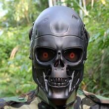 Терминатор полный маска для пейнтбола Airsoftsports пластик тактический маска для CS Wargame косплэй