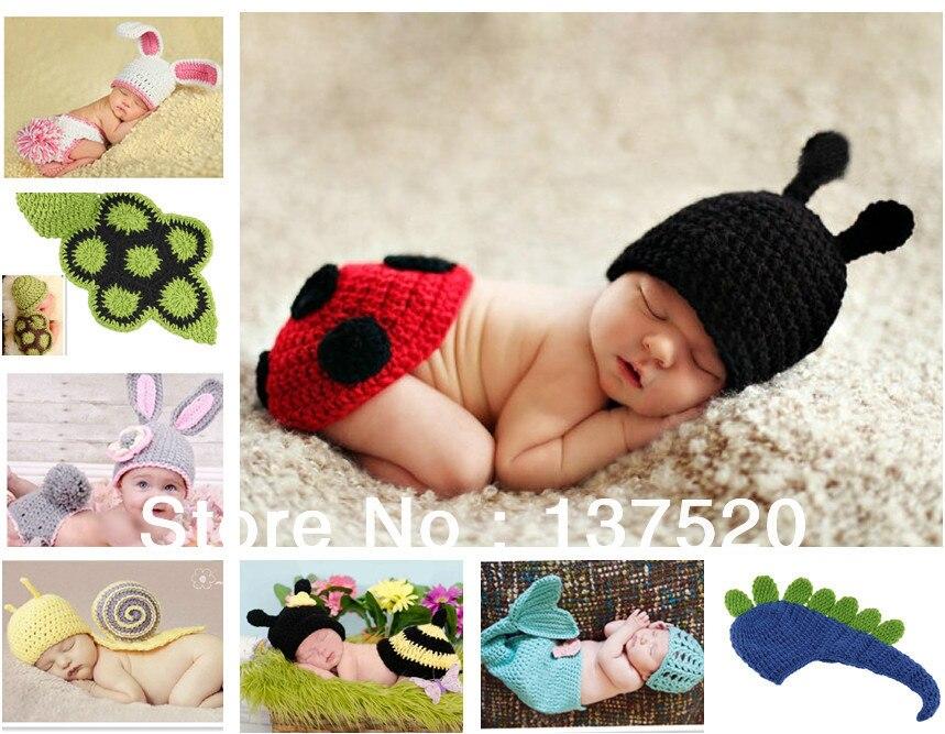 tienda online entrega gratuita nuevo nio nio nia bebe gorro disfraz animal sombreros gorras sets tomar fotografa atrezzo punto de ganchillo deg