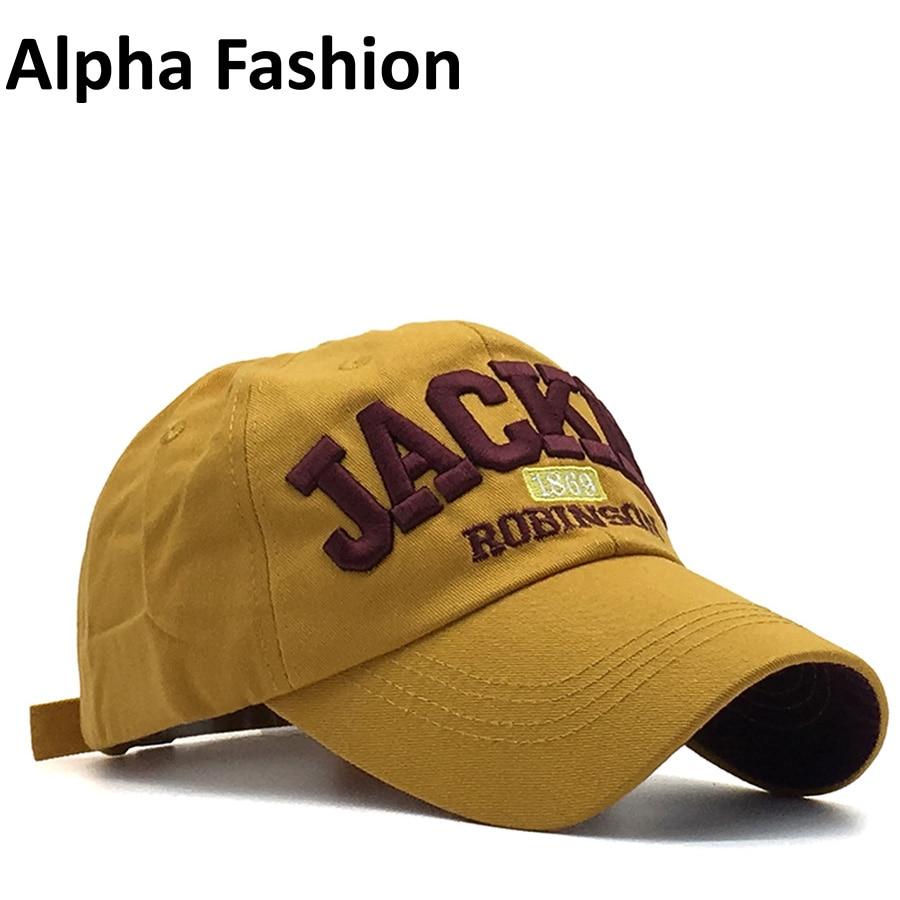 Alpha Fashion Brand Jackie letter Cotton embroidery Baseballs