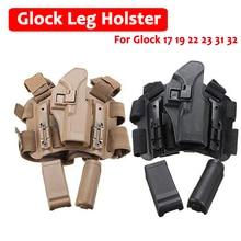 Hot ! Glock Gun Leg Holster Military Pistol 17 19 22 23 31 32 Right Hand Hunting Equipment Tactical Carry