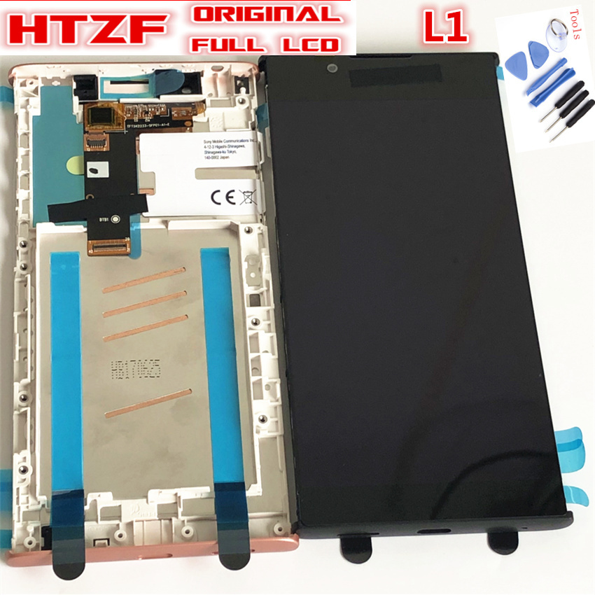 Original 5.5 LCD Display For SONY Xperia L1 G3312  G3311 G3313 Touch Screen for Sony Digitizer with Frame