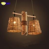 Фумат Nordic Минималистский японский бамбука подвесной светильник творческий ресторан кафе подвесной светильник из ротанга Гостиная бар под