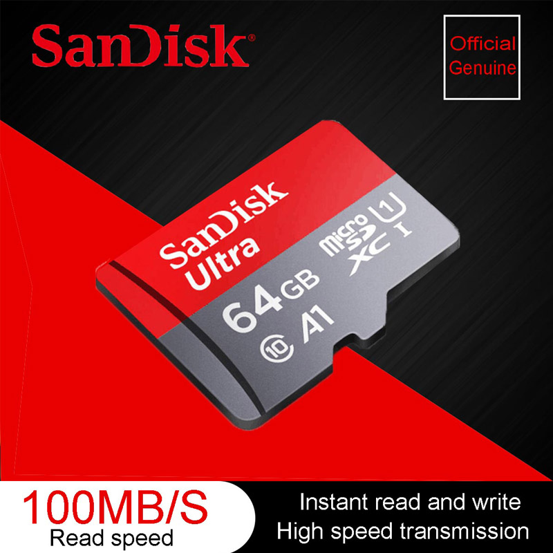 Original  SanDisk Ultra Micro SD Card 64 G Memory Card 64GB MicroSD TF Card MicroSDXC UHS-I Card For Phone Cartao De Memoria A1