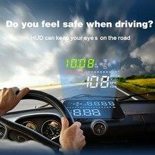 Head Up Display HUD Car GPS inalámbrico Ventana de Auto Ayuda OBD II OBD2 Velocímetro coche Proyector de Pantalla Reflectante de Advertencia de Velocidad