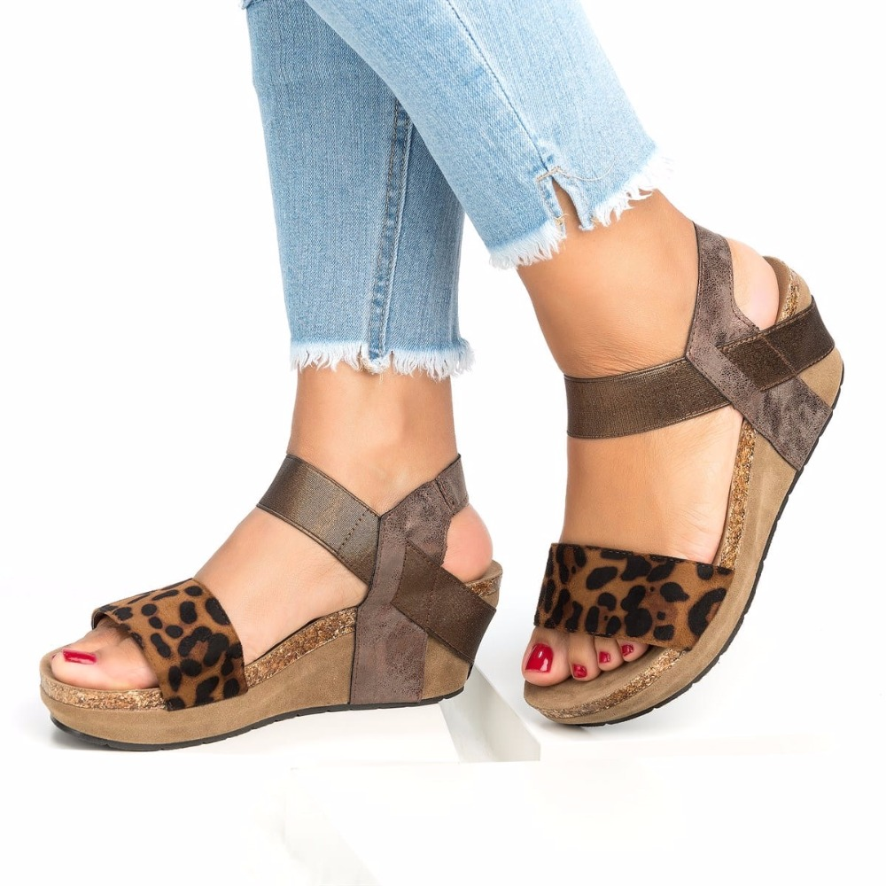 Marrón Playa 42 Zapatos Tamaño Caqui Cosidram Cómoda Moda Tacones PZuXlOkiTw
