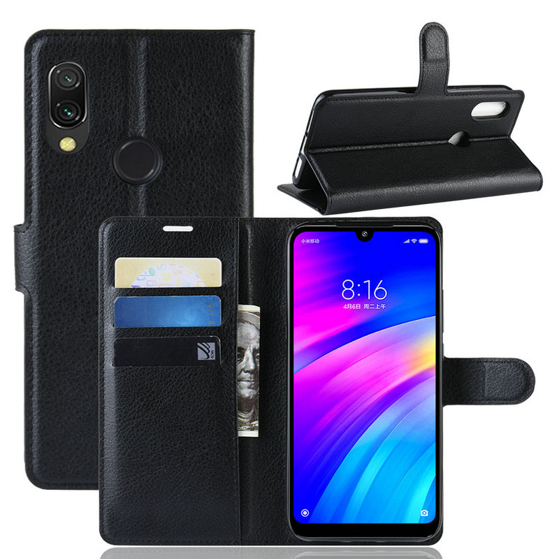Wallet Phone Case for <font><b>Xiaomi</b></font> <font><b>Redmi</b></font> <font><b>7</b></font> for <font><b>Xiaomi</b></font> <font><b>Redmi</b></font> <font><b>Note</b></font> <font><b>7</b></font> <font><b>Pro</b></font> Note7 16GB 32GB 64GB <font><b>128GB</b></font> Flip Leather Cover Case Capa Etui image