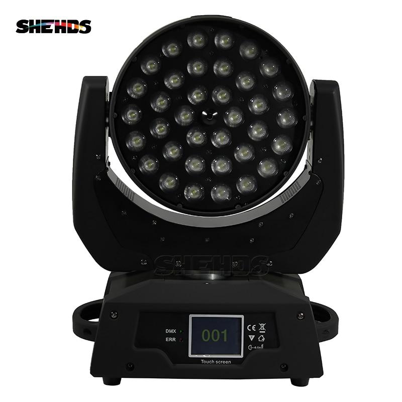 4 pcs/lot LED tête mobile lavage lumière LED Zoom lavage 36x18 W RGBWA + UV couleur DMX scène têtes mobiles lavage écran tactile pour Disco DJ