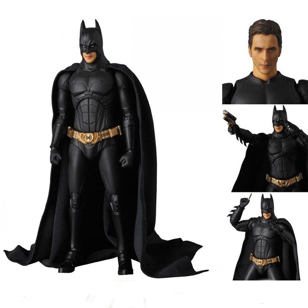 17cm MEDICOM MAFEX 049 Batman Begins Justice League PVC Action Figure Collectible Model Toy Doll 16 cm new batman v superman justice league mafex 017 batman figure model pvc action figure collectible model toy l1071