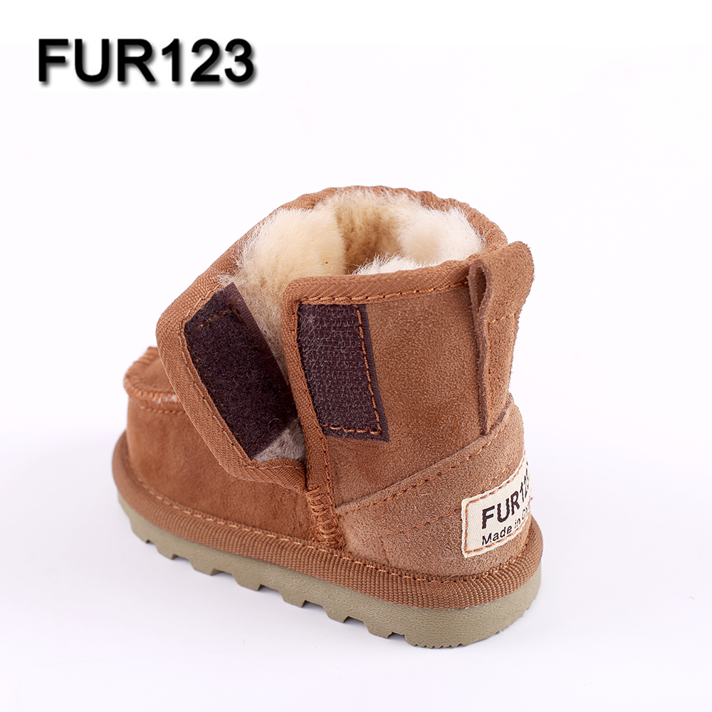f7f208e16e3 US $27.0 |Baby Snow Boots for boys and girls Kids Snow Boots Sheepskin Real  Fur Shoes Children Geanuine Leather Australia Shoes-in Boots from Mother &  ...
