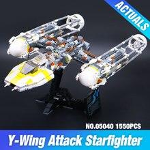 Lepin 05040 Star War Série Y-Attaque aile Starfighter Bâtiment Assemblé Bloc Brique Jouet Compatible avec JOUET