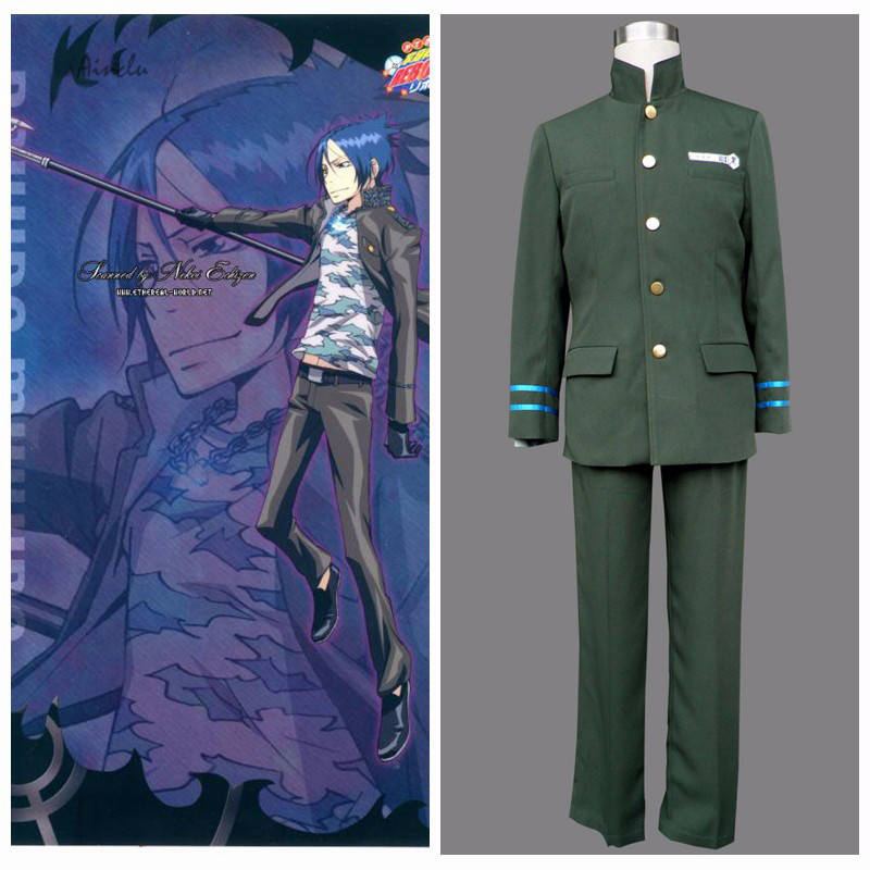Ainclu Free Shipping Adult Kid Katekyo Hitman Reborn Anime Kokuyo School Male Uniform 2nd Cosplay Costume