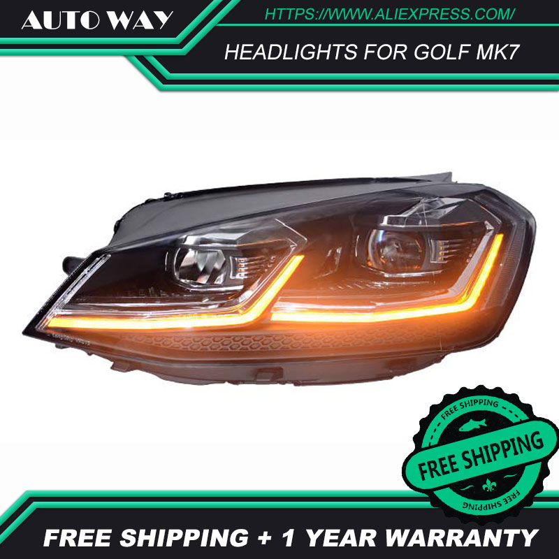 Image 4 - Car Styling Head Lamp for VW Golf7 Headlights Golf 7 MK7 MK7.5 2013 2017 LED Headlight H7 D2H Hid Angel Eye Bi Xenon Beam-in Car Light Assembly from Automobiles & Motorcycles