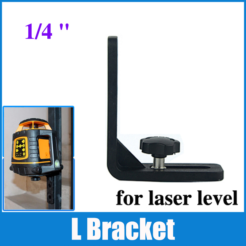 Firecore 1/4  Laser Level Universal L-Bracket Super Strong Iron Magnet Adsorption Stand For 2/3/5/8 Line Laser Levels firecore 1 4 turn 5 8 universal stainless steel tripod bracket adapter for laser level
