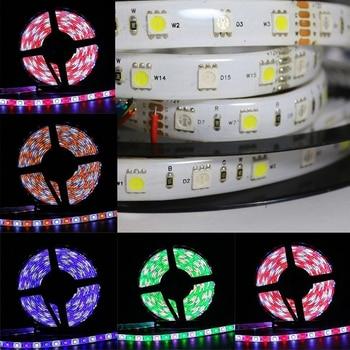 цена на VIPMOON LED Strip SMD 5050 RGBW 12V Flexible Light RGB+White Colorful Strip lighting Waterproof,5M 300LEDs 60Leds/m PK0433