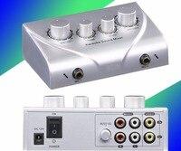 Vận Chuyển free Portable Âm Thanh Karaoke Âm Thanh Stereo Echo Mixer Microphone Kép Cáp Điện Adapter đối với TRUY