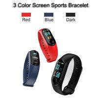 M3 плюс Смарт-часы Цвет Экран Heart Rate активность Фитнес трекер умный электронный браслет-синий
