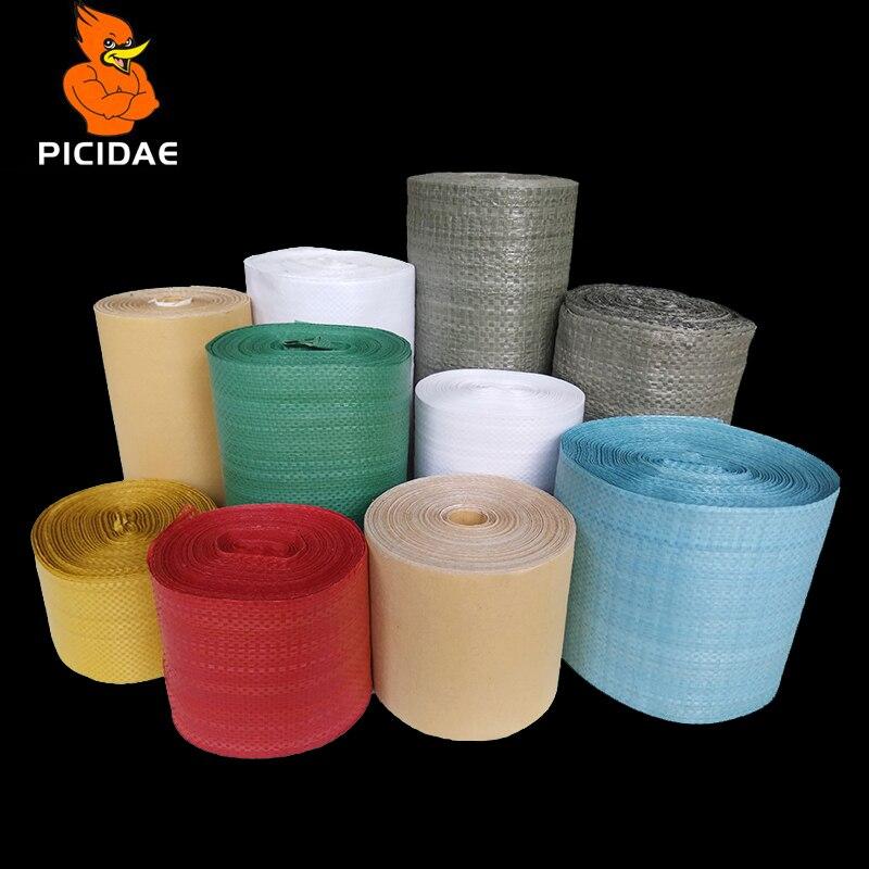 Bande d'enroulement tissée enroulé bobine tissu peau de serpent PP emballage feuille de plastique Kraft papier plaque de Protection tuyau en acier anneau câble fil