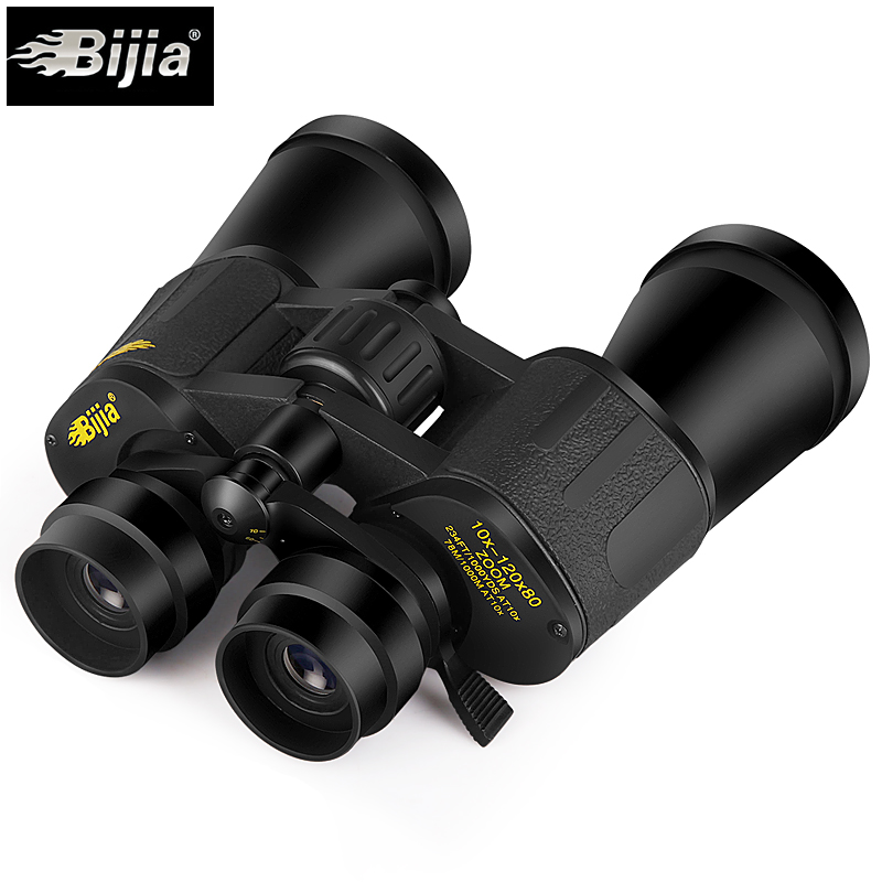 Image 4 - BIJIA 10 120X80 professional zoom optical hunting binoculars wide angle camping telescope with tripod interface-in Monocular/Binoculars from Sports & Entertainment