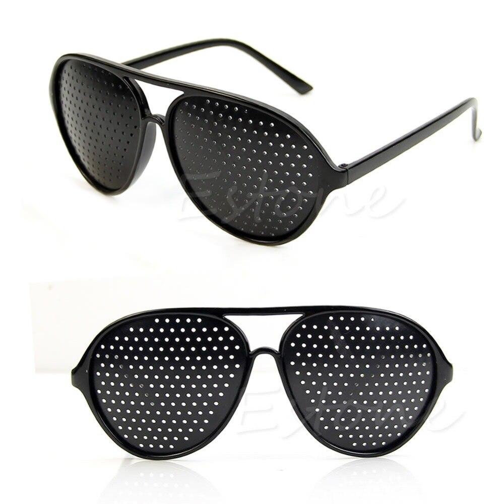 Cool Care Vision Improver Anti-fatigue Stenopeic Pinhole Glasses Drop Ship