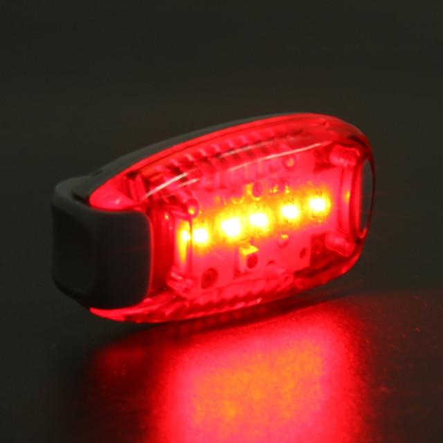 5 LED Bike Tail Light Cycling Safety Warning Light Rear Lamp ...