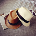 Sombrero de moda femenina sombrero del verano del sombrero masculino jazz strawhat amantes del sombrero de playa envío gratis
