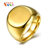 2017 AMGJ Classic Polishing Gold Plated Round Stainless Steel Knuckles Wedding Rings Men S Charms Jewelry
