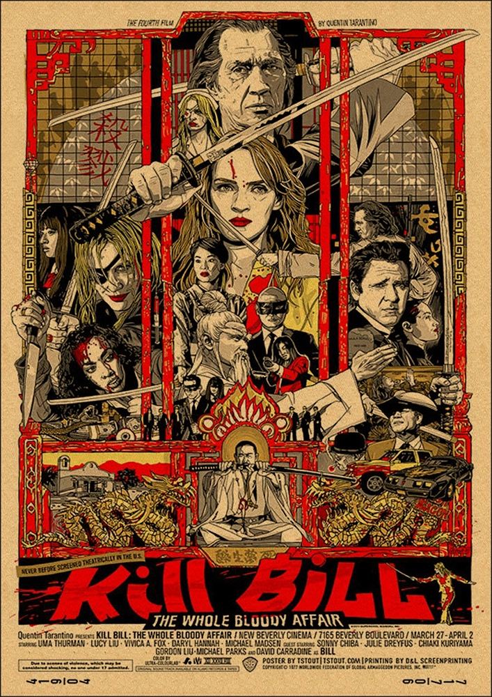 HTB1T9TuboLrK1Rjy0Fjq6zYXFXau Quentin Tarantino Movie Poster Collection, Vintage Kraft Poster, Decorative Poster, Home Decor, Movie Wall Sticker, Poster Movie