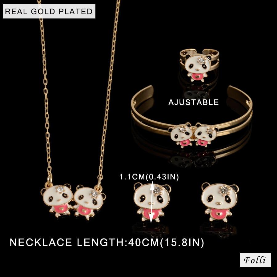2016 Hot Kids Baby Girls GOLD plating Jewelry Beads Hello Kitty ...