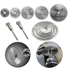7pcs HSS Circular Saw Blade Woodworking Metal Cutting Disc +Mandrel for Rotary Tools Set Mayitr