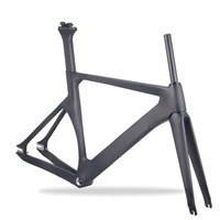 Chinese Fixed Gear 700c carbon fiber track carbon bike frame TR011