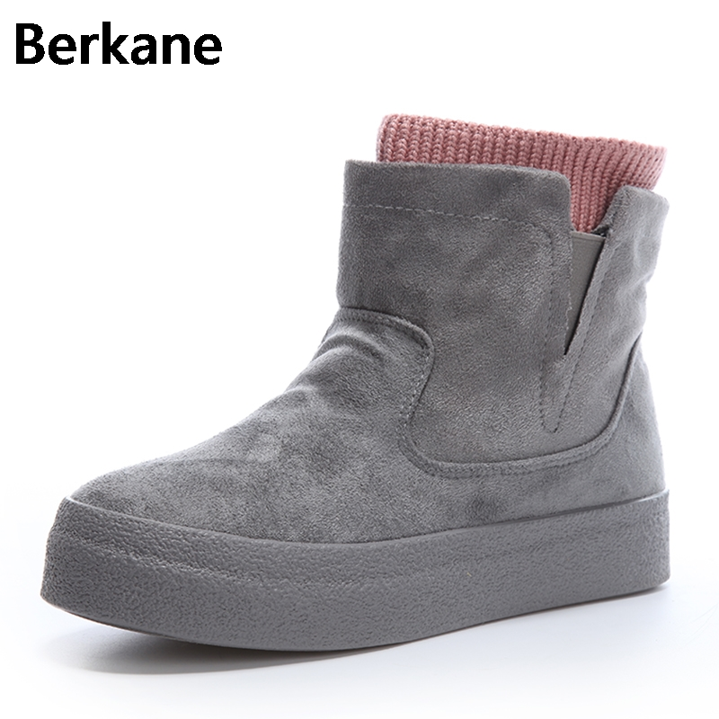 цена Snow Boots Woman Fur Boots Waterproof 2018 Winter Casual Ankle Boots Fashion Platform Antisked Female Shoes Warm Botas Mujer Hot
