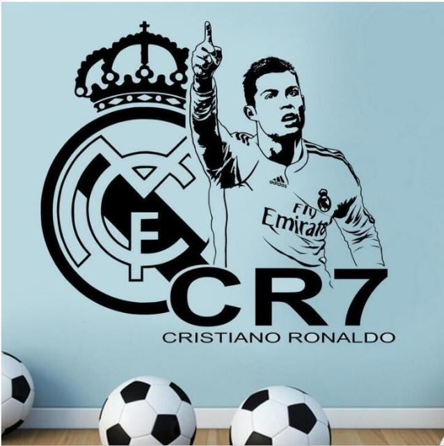 football soccer player cristiano ronaldo real madrid wall sticker