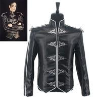 HOT Casaul Fashion MJ Michael Jackson Classic Black V8 Punk Moto Skinny Leather Jacket Costume in 1992S