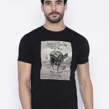 Men T shirt Nwt Jeans Black Pepe Printed Round Neck Cotton C