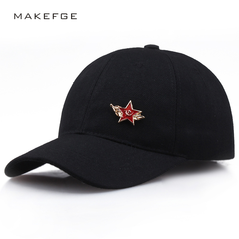 Classic five-pointed star red star baseball caps unisex high quality adjustable sunhat outdoor sports dad hat truck driver hats