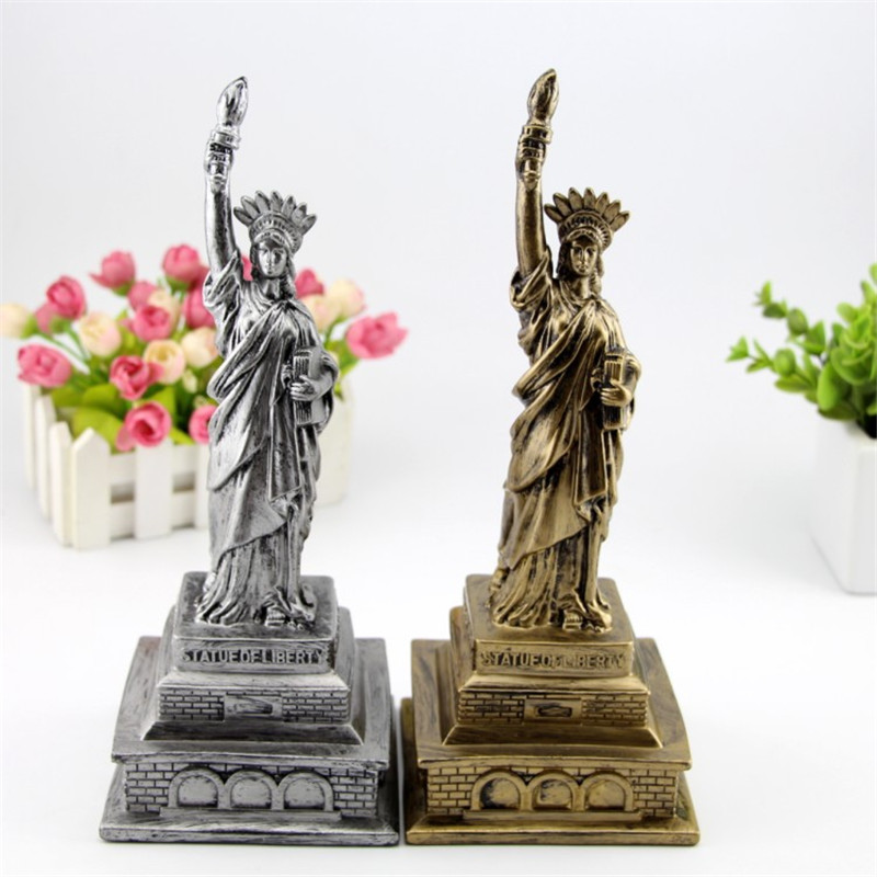 Statue Of Liberty Antique House Decoration Crafts Office Home Furnishings Decor Metal Building Model Gifts